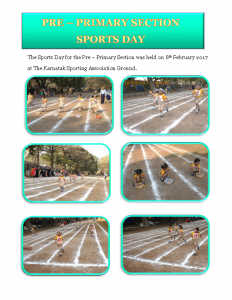 5 – Pre – Primary Section Sports (08.02.2017)